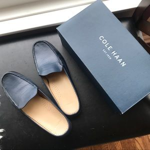 Cole Haan Navy Blue Mules Worn Once